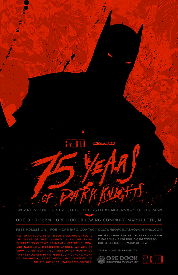 Culture of Cult: 75 Years of Dark Knights Poster
